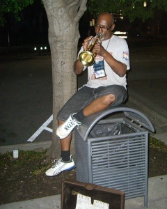 Melvin the Busking Trumpeter