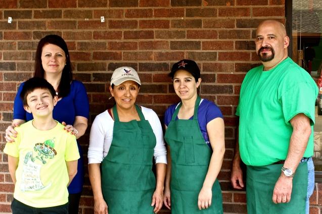 The Charlie's Burgers Team:   Rebecca, George, Monica, Barbara & Charles